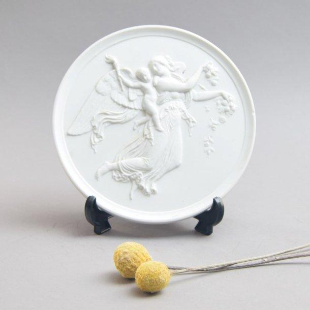 Biscuit Thorvaldsen platte, Dagen. 15 cm. Royal Copenhagen.