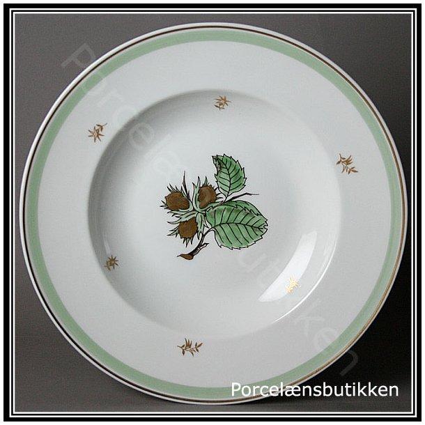 Dyb tallerken. nr. 23. 21 cm. Hasselnød fra Bing & Grøndahl.