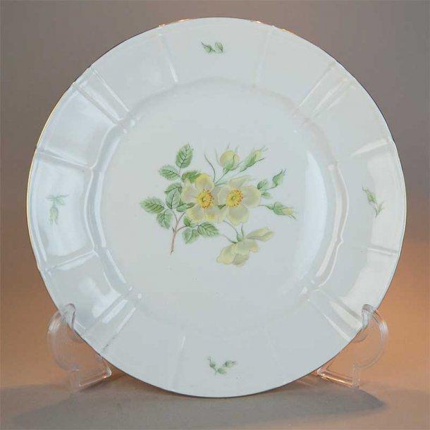 Flad tallerken. nr. 25. 24 cm. Klitrose fra Bing & Grøndahl.