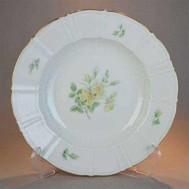 Dyb tallerken. nr. 22. 24 cm. Klitrose fra Bing & Grøndahl.