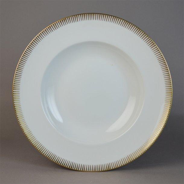 Dyb tallerken. nr. 23. 21 cm. Luna. Bing & Grøndahl.