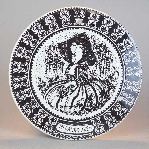 Jubilærums Platte, sort. 15 cm.