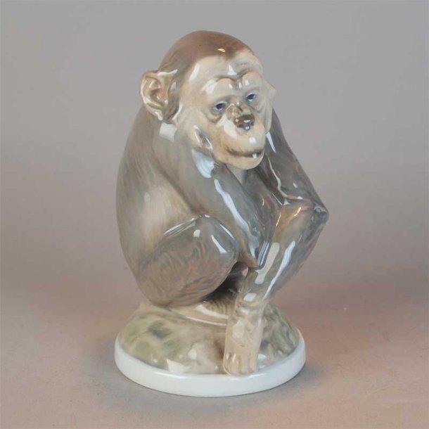 Chimpanse. nr. 1055. 14 cm. Dahl Jensen.