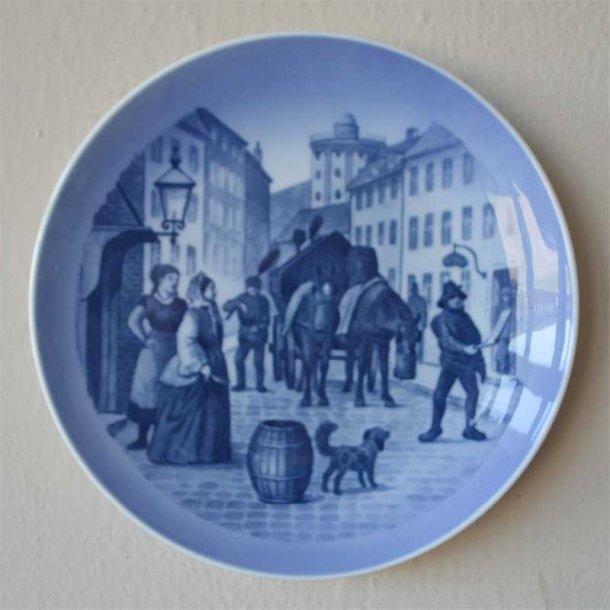 Jubilærumsplatte. 75 år. Renholdnings Selskabet 1898. 20 cm.