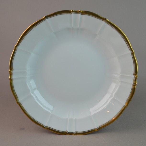 Dyb tallerken. nr. 23. 21 cm. Offenbach med guld.