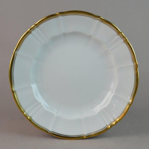 Kagetallerken. nr. 28A. 15 cm. Offenbach med guld.