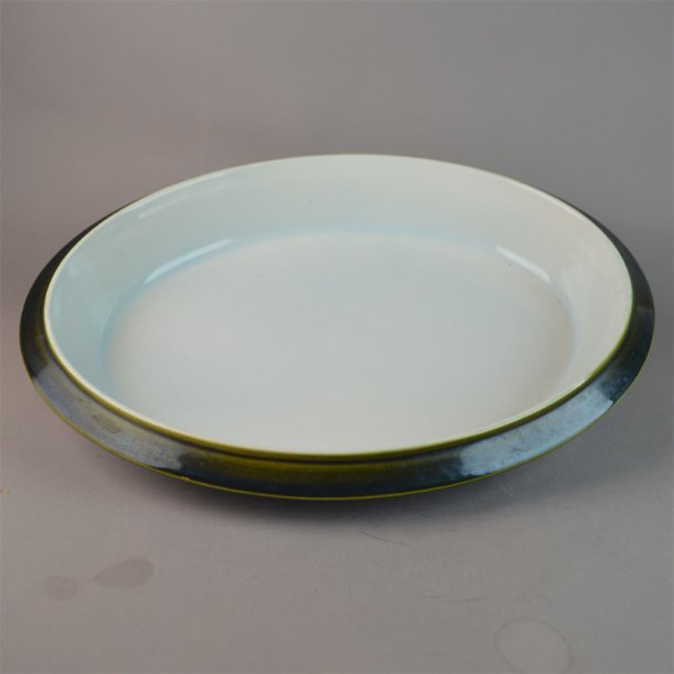 Fad, ovalt. 31,5 cm. Pyroline stel. Aluminia.