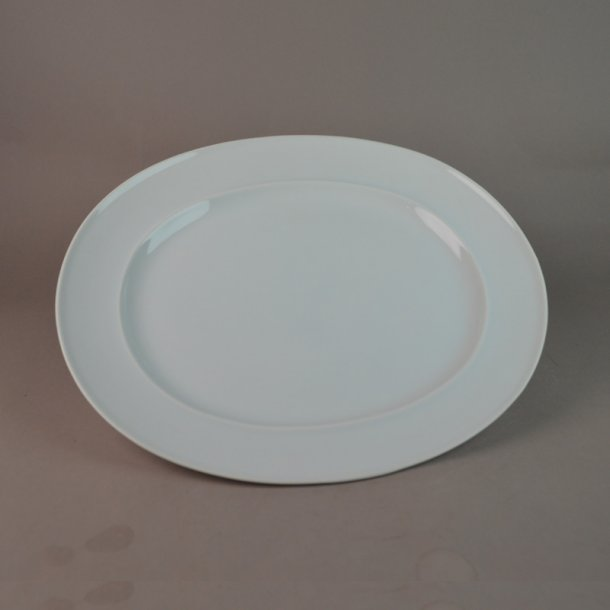 Fad, ovalt. 318. 23 cm. Hvid Koppel. Bing & Grøndahl.
