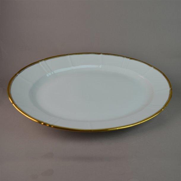 Fad, ovalt. nr. 15. 40 cm. Offenbach med guld.