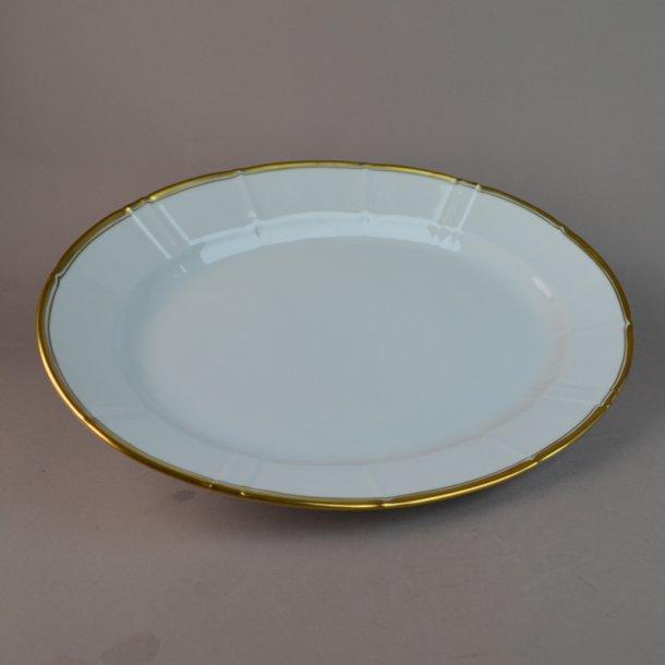 Fad, ovalt. nr. 17. 28 cm. Offenbach med guld.