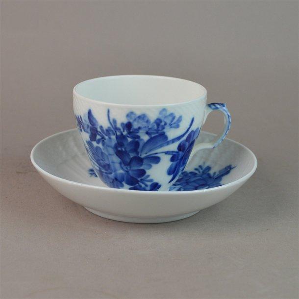 Kaffekop. nr. 1549. 1,2 dl. Blå Blomst, svejfet.