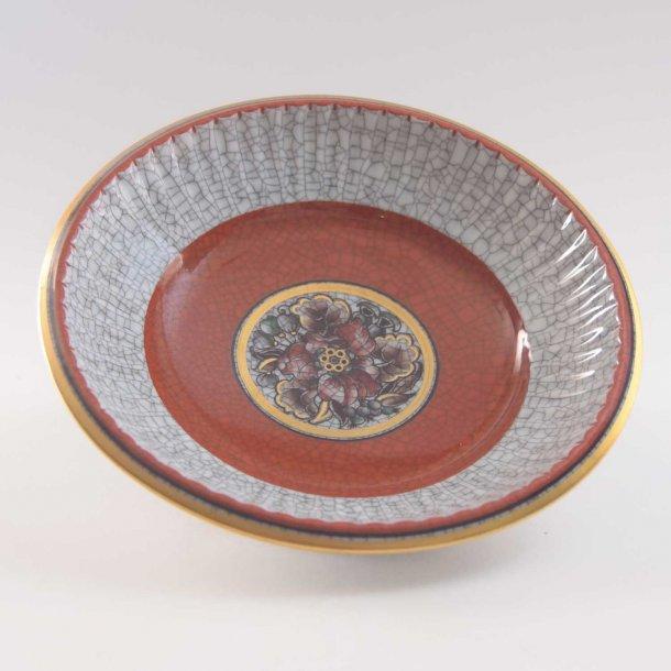 Askeskål med krakeleret glasur. nr. 221 / 682. Dahl Jensen.