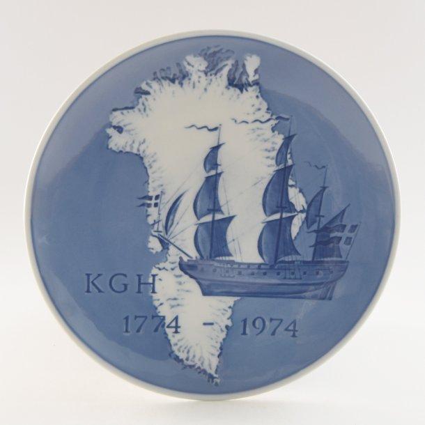Jubilæumsplatte. KGH 200 år. Royal Copenhagen.