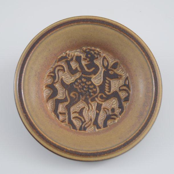 Fad, rundt. nr. 3407 / 1. 21 cm. Michael Andersen Keramik.