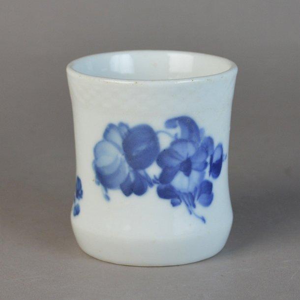 Cigarbæger. nr. 8253. 7 cm. Blå Blomst, flettet.