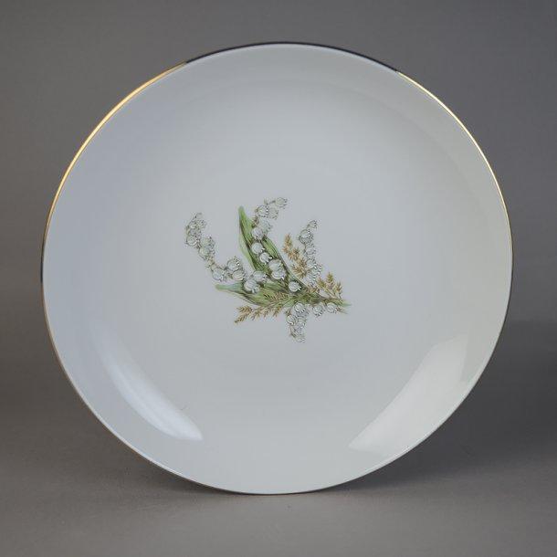 Dyb tallerken. 21,5 cm. Liljekonval stel fra Bavaria.