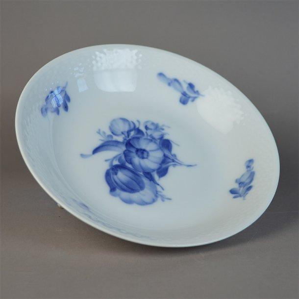 Østersskål / kompotskål. nr. 8155. 19 cm. Blå Blomst, flettet.