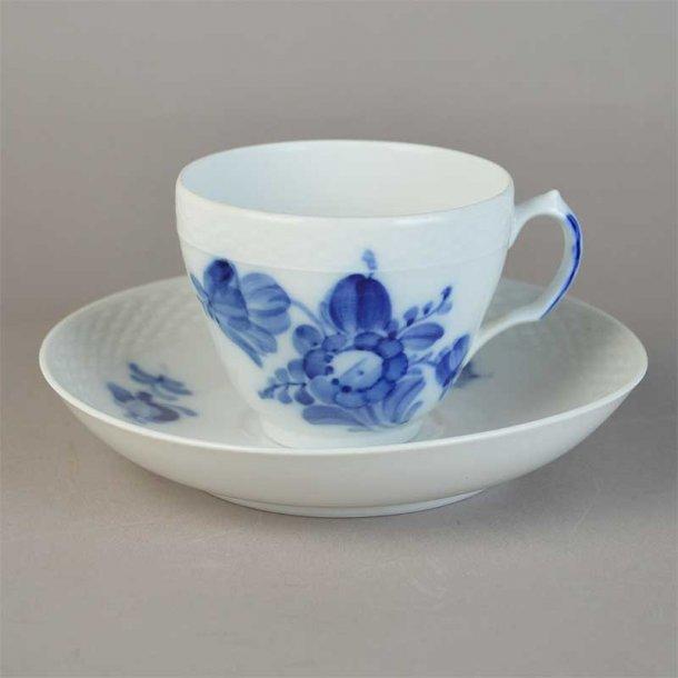 Kaffekop. nr. 8040. 10 cl. Blå Blomst, flettet.