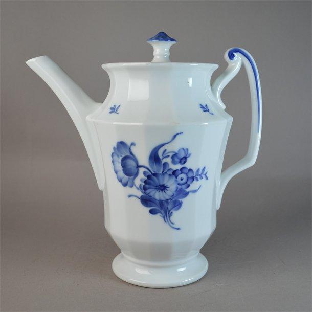 Kaffekande. stor. nr. 8502. 125 cl. Blå Blomst, kantet.