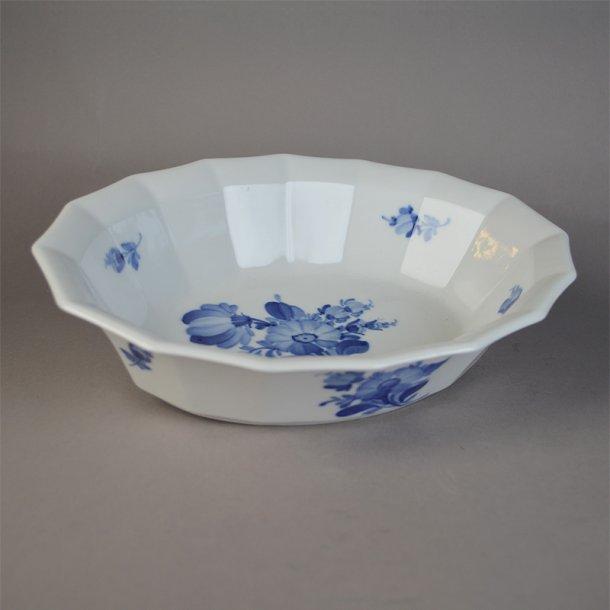 Salatskål. nr. 8632. 24,5 cm. Blå Blomst, kantet.