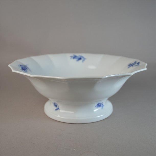 Salatskål. nr. 8530. 24,5 cm. Blå Blomst, kantet.