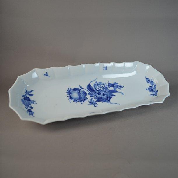 Sellerifad. nr. 8609. 36 cm. Blå Blomst, kantet.