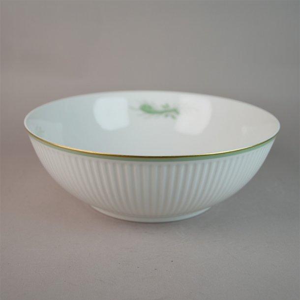 Salatskål. 14068. 22 cm. Grøn Melodi. Royal Copenhagen.
