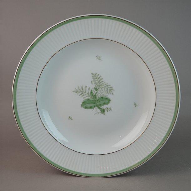 Dyb tallerken. 14059. 25 cm. Grøn Melodi. Royal Copenhagen.