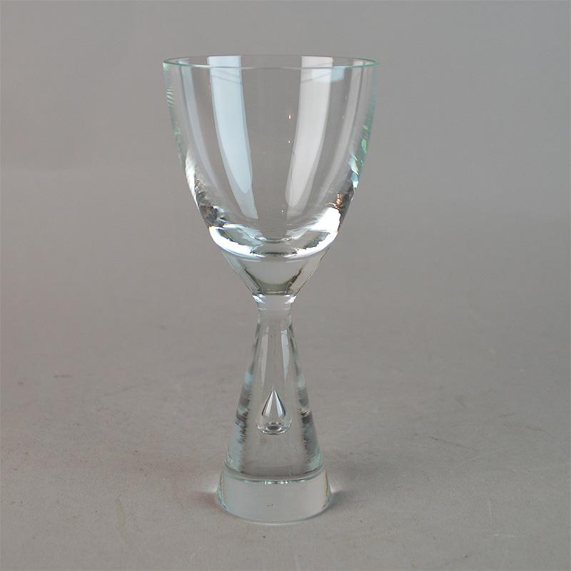 Vellidte Hvidvin. 13,5 cm. Princess glas. Holmegaard Glasværk. - Princess WD-04