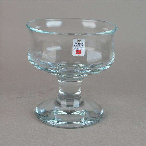 Isglas. 11,5 cm. Skibsglas. Holmegaard Glasværk.