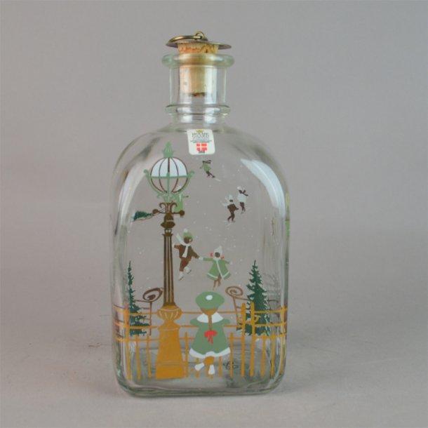 Juleflaske 1988. 70 cl fra Holmegaard Glasværk.