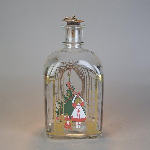 Juleflaske 1990. 70 cl fra Holmegaard Glasværk.