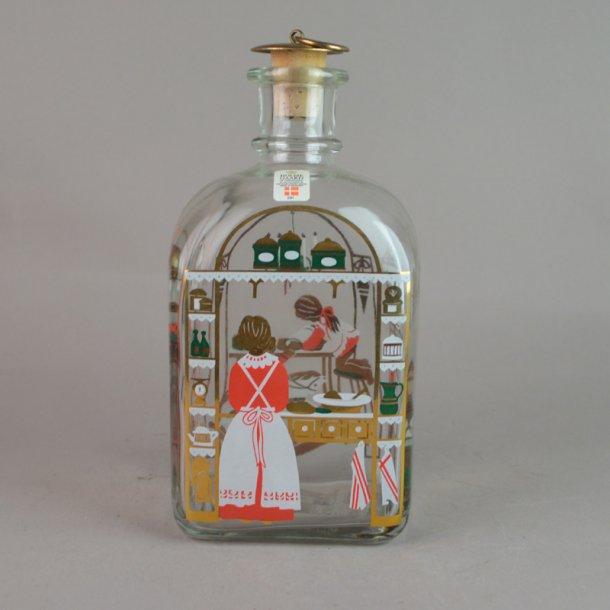 Juleflaske 1992. 70 cl fra Holmegaard Glasværk.