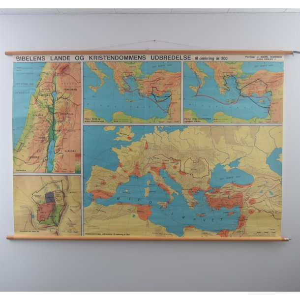 Biblenslande. 138 x 204 cm
