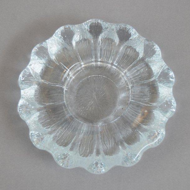 Isblomst, lysestage. 14,5 cm. Sidse Werner for Holmegaard Glasværk..