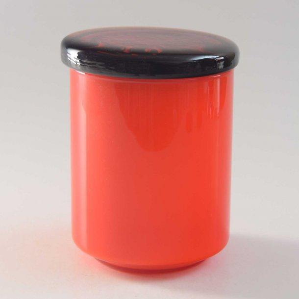 Marmeladekrukke, orange. Palet. 10,5 cm. Holmegaard.