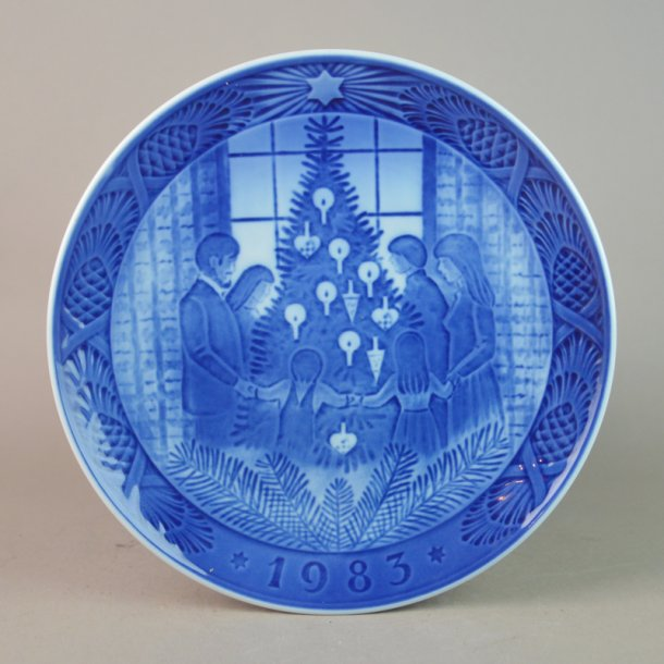 Juleplatte 1983. 18 cm. Royal Copenhagen.