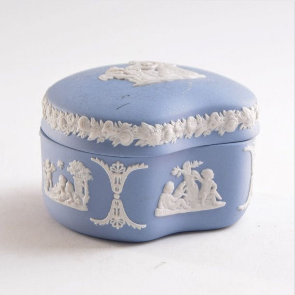 Bonbonniere, blå. 5,5 cm. Wedgwood England.