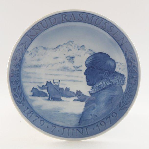 Jubilæumsplatte. 100 år. Knud Rasmussn. Royal Copenhagen.