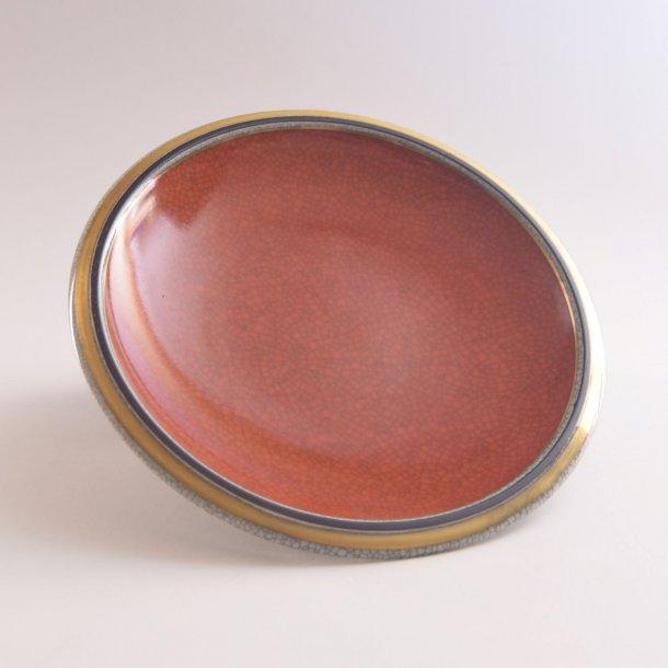 Askeskål med krakeleret glasur. nr. 2568. 18 cm. Royal Copenhagen.