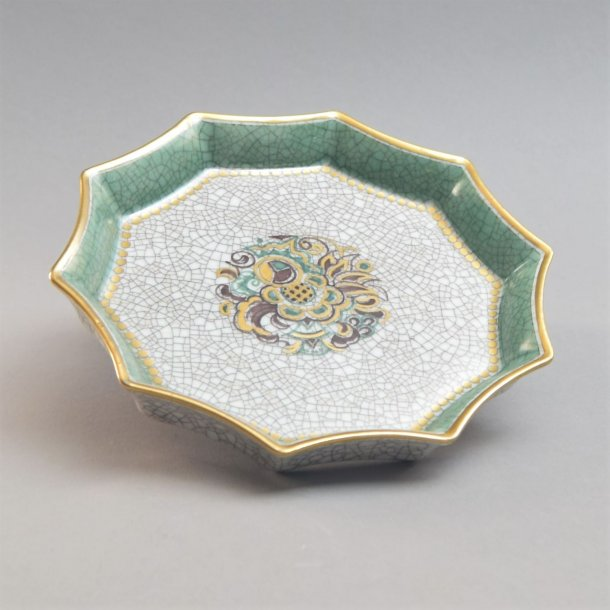 Askeskål med krakeleret glasur. nr. 645. Dahl Jensen.