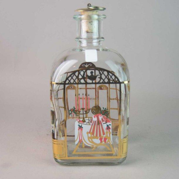 Juleflaske 1989. 70 cl fra Holmegaard Glasværk.