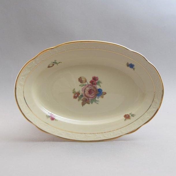 Fad, ovalt. 28 cm. Rosenborg. KPM. Porcelænsfabrikken Danmark.