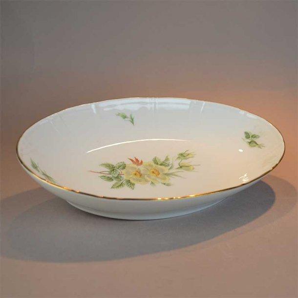 Asiet, oval. nr. 39. 22,5 cm. Klitrose. Bing og Grøndahl.