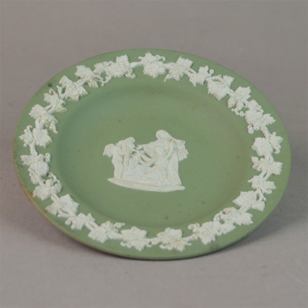 Asiet, grøn. 11 cm. Wedgwood England.