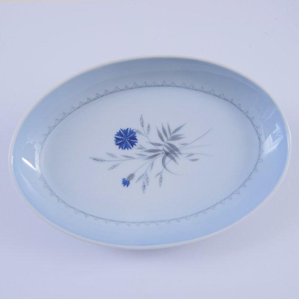 Asiet, oval. nr. 39. 24 cm. Demeter, blå. Bing og Grøndahl.