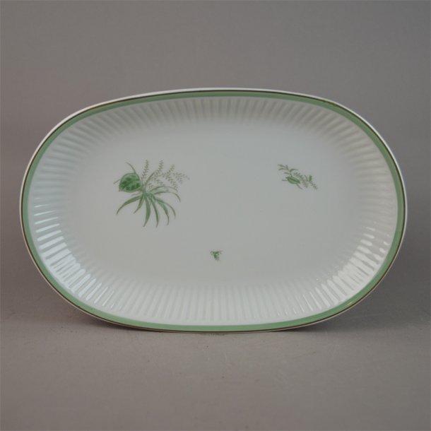 Asiet, oval. 14054. 22 cm. Grøn Melodi. Royal Copenhagen.