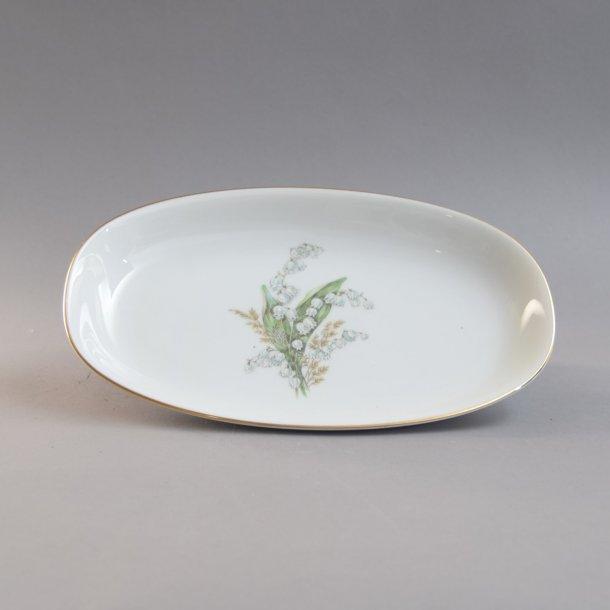 Asiet. 23 cm. Liljekonval stel. Bavaria.
